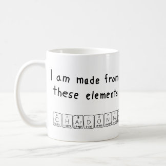 Chardonnay periodic table name mug
