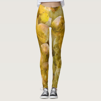 Chardonnay Wine Grapes Leggings