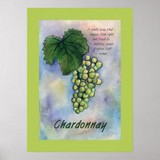 Chardonnay Wine Grapes Poster