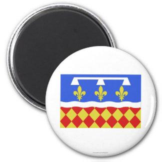 Charente flag 6 cm round magnet