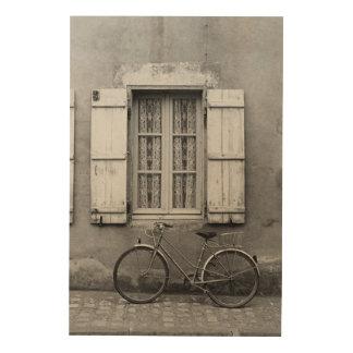 Charentes Bike Marans Wood Print
