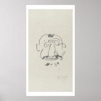 Charge de Lautrec par Lui-Meme (pencil on paper) Poster