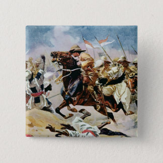 Charge of the 21st Lancers at Omdurman 15 Cm Square Badge