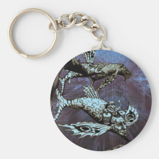 Charge of the Fish Pilot Basic Round Button Key Ring
