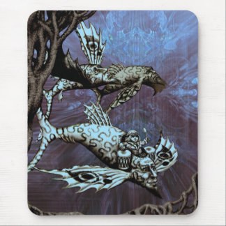 Charge of the Fish Pilot Mouse Mat