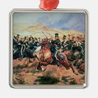Charge of the Light Brigade Silver-Colored Square Decoration