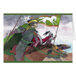 """Charge To Glory"" Greeting Card"