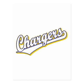 Chargers in Blue and Yellow Postcards