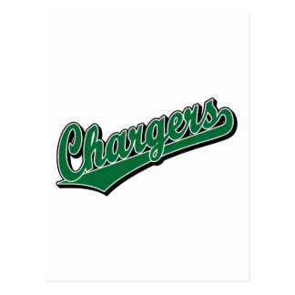 Chargers in Green Post Cards