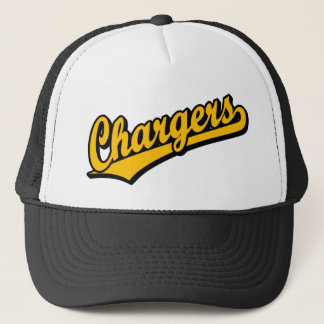 Chargers in Orange Trucker Hat