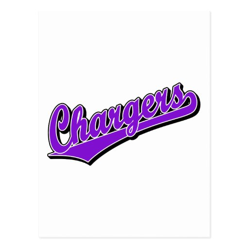 Chargers in Purple Post Card