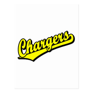 Chargers in Yellow Post Cards