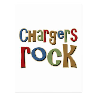 Chargers Rock Postcard