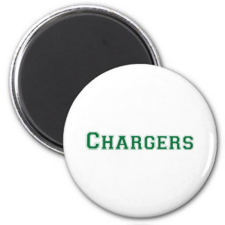 Chargers square logo in green magnets