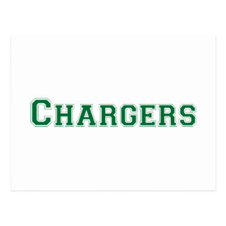 Chargers square logo in green postcards