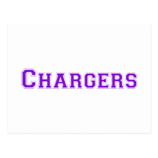 Chargers square logo in purple post card