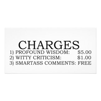 Charges Picture Card