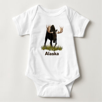 Charging Bull Moose Baby Bodysuit