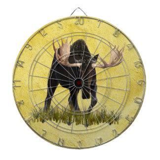 Charging Bull Moose Dartboard