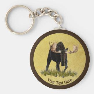 Charging Bull Moose Key Ring