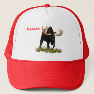 Charging Bull Moose Trucker Hat