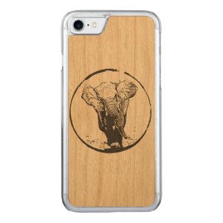 Charging Elephant by EKLEKTIX Carved iPhone 8/7 Case