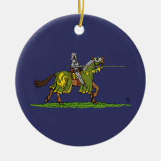 Charging Knight Christmas Ornament