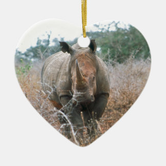 Charging Rhino Christmas Ornament