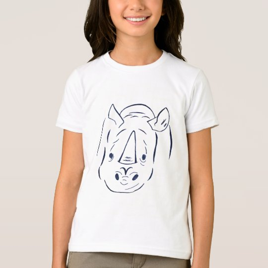 Charging Rhino kids ringer t-shirt