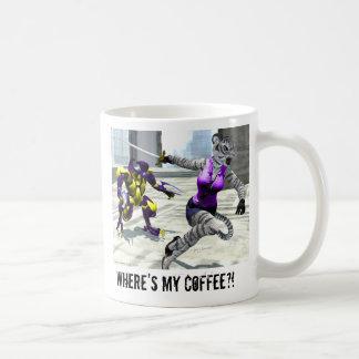 "Charging Tigress ""Where's My Coffee?!"" Mug"