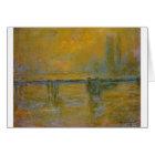Charing Cross Bridge by Claude Monet Card