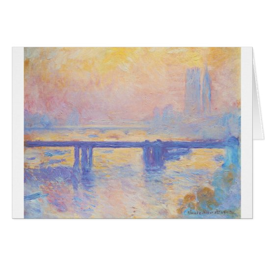 Charing Cross Bridge by Claude Monet Card