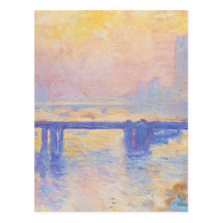 Charing Cross Bridge by Claude Monet Postcard