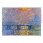 Charing Cross Bridge, The Thames,  Claude Monet Card