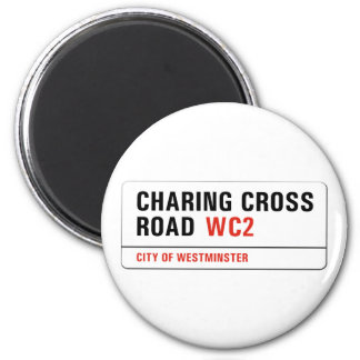 Charing Cross Road, London Street Sign Magnet