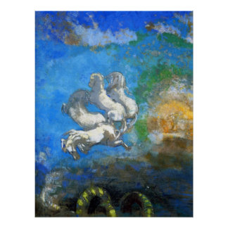 Chariot of Apollo - by Symbolist Odilon Redon Prin Poster