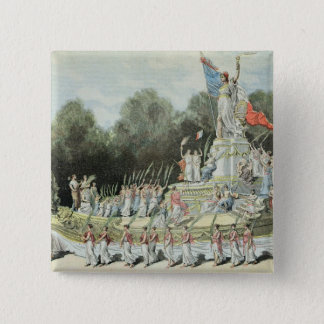 Chariot of the Triumph of the Republic 15 Cm Square Badge