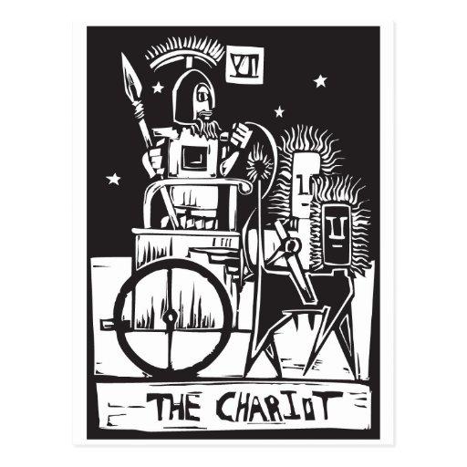 Chariot Tarot Card Post Cards