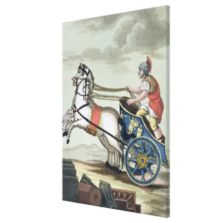 Charioteer, from 'L'Antica Roma', 1825 (colour lit Canvas Print