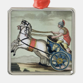 Charioteer, from 'L'Antica Roma', 1825 (colour lit Silver-Colored Square Decoration