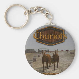 Chariots_square_300dpi Basic Round Button Key Ring