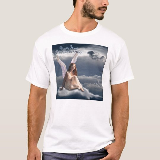 Charity Angel music angel in the clouds t-shirt