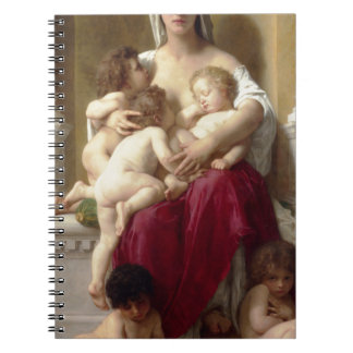 Charity by William-Adolphe Bouguereau Spiral Note Book
