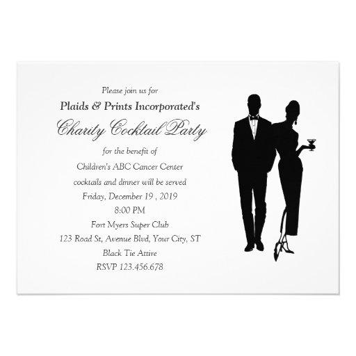 Charity Dinner Black Tie Event Invitation