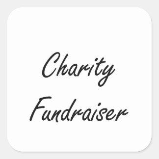 Charity Fundraiser Artistic Job Design Square Sticker