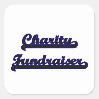 Charity Fundraiser Classic Job Design Square Sticker