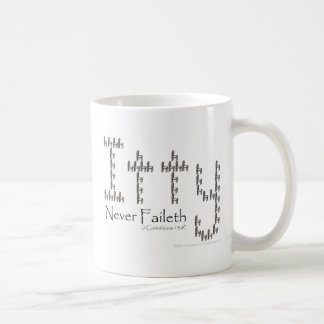 Charity Never Faileth Basic White Mug