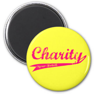 Charity Never Faileth LDS Relief Society 6 Cm Round Magnet