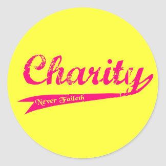 Charity Never Faileth LDS Relief Society Round Sticker