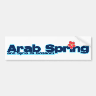 Charity project: Syria Revolution Arab Spring Bumper Sticker